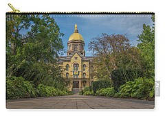 Notre Dame University Q Carry-all Pouch by David Haskett