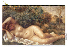 Nude Carry-all Pouch by Pierre Auguste Renoir