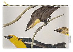 Nuttall's Starling Yellow-headed Troopial Bullock's Oriole Carry-all Pouch by John James Audubon