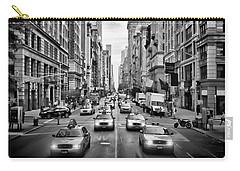 Nyc 5th Avenue Monochrome Carry-all Pouch by Melanie Viola