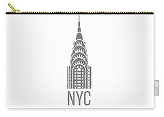 Nyc New York City Graphic Carry-all Pouch by Edward Fielding