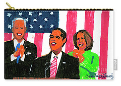 Obama's State Of The Union '10 Carry-all Pouch by Candace Lovely