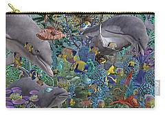 Ocean Circus Carry-all Pouch by Betsy Knapp