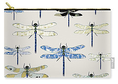 Odonata Carry-all Pouch by Sarah Hough