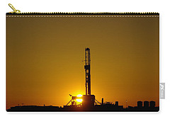 Oil Rig Near Killdeer In The Morn Carry-all Pouch by Jeff Swan
