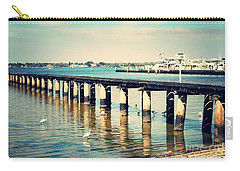 Old Fort Myers Pier With Ibises Carry-all Pouch by Carol Groenen
