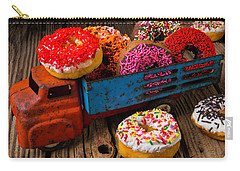 Old Toy Truck And Donuts Carry-all Pouch by Garry Gay