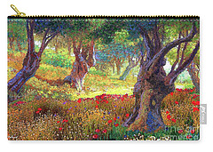 Olive Trees And Poppies, Tranquil Grove Carry-all Pouch by Jane Small
