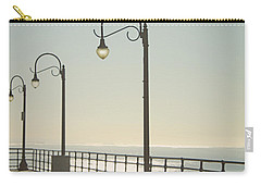 On The Pier Carry-all Pouch by Linda Woods