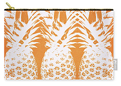 Orange And White Pineapples- Art By Linda Woods Carry-all Pouch by Linda Woods