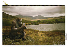 Orangutan With Smart Phone Carry-all Pouch by Amanda Elwell