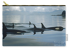 Orca Pod Johnstone Strait Canada Carry-all Pouch by Flip Nicklin