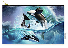 Orca Wave Carry-all Pouch by Jerry LoFaro