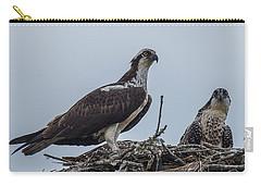 Osprey On A Nest Carry-all Pouch by Paul Freidlund