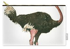 Ostrich Bird Carry-all Pouch by Juan Bosco