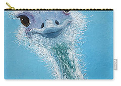 Ostrich Painting Carry-all Pouch by Jan Matson