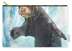 Otter Cuteness Carry-all Pouch by Jamie Pham