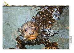 Otter Pup Carry-all Pouch by Jamie Pham