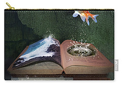 Out Of The Pond Carry-all Pouch by Mary Hood