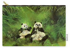 Pandas  Carry-all Pouch by Odile Kidd