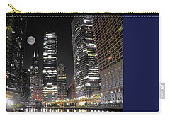 Panoramic Lakefront View In Chicago Carry-all Pouch by Frozen in Time Fine Art Photography