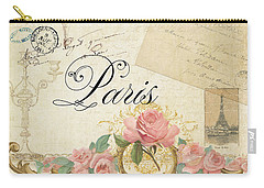 Parchment Paris - Timeless Romance Carry-all Pouch by Audrey Jeanne Roberts
