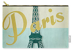 Paris City Of Light Carry-all Pouch by Mindy Sommers
