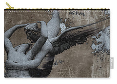 Paris Eros And Psyche - Surreal Romantic Angel Louvre   - Eros And Psyche - Cupid And Psyche Carry-all Pouch by Kathy Fornal