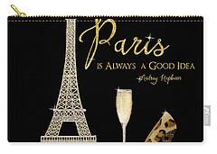 Paris Is Always A Good Idea - Audrey Hepburn Carry-all Pouch by Audrey Jeanne Roberts