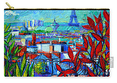 Paris Rooftops - View From Printemps Terrace   Carry-all Pouch by Mona Edulesco