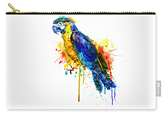 Parrot Watercolor  Carry-all Pouch by Marian Voicu