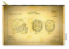 Patent Art Michigan Helmet Carry-all Pouch by Big 88 Artworks