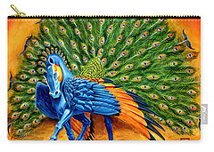 Peacock Pegasus Carry-all Pouch by Melissa A Benson