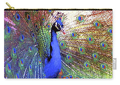 Peacock Wonder, Colorful Art Carry-all Pouch by Jane Small