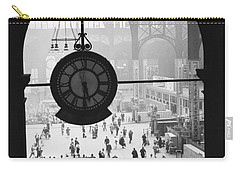Penn Station Clock Carry-all Pouch by Van D Bucher and Photo Researchers