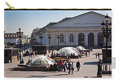 People At Manezh Exhibition Center Carry-all Pouch by Panoramic Images