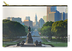 Philadelphia Benjamin Franklin Parkway Carry-all Pouch by Bill Cannon