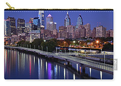 Philadelphia Blue Hour Carry-all Pouch by Frozen in Time Fine Art Photography