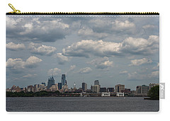 Philadelphia Skyline Across The Delaware River Carry-all Pouch by Terry DeLuco