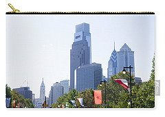 Philadelphia Skyline From The Parkway Carry-all Pouch by Bill Cannon