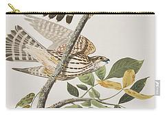 Pigeon Hawk Carry-all Pouch by John James Audubon
