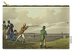 Pigeon Shooting Carry-all Pouch by Henry Thomas Alken
