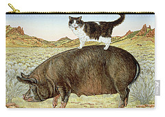 Piggyback-riding At Breteche Creek Carry-all Pouch by Ditz