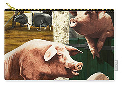 Pigs Carry-all Pouch by Janet Blakeley