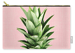 Pineapple And Pink Carry-all Pouch by Vitor Costa