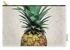 Pineapple Express On Mottled Parchment Welcome Carry-all Pouch by Elaine Plesser