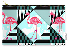 Ping Flamingo Carry-all Pouch by Mark Ashkenazi