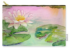 Pink Pond Carry-all Pouch by Amy Kirkpatrick