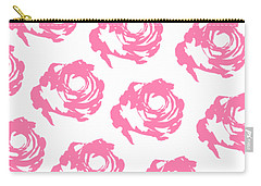 Pink Roses Carry-all Pouch by Cortney Herron