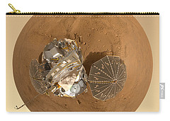 Planet Mars Via Phoenix Mars Lander Carry-all Pouch by Nikki Marie Smith